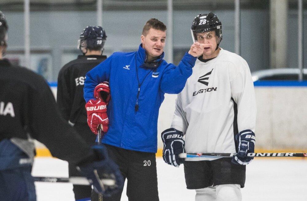 Eesti jäähokikoondise treening