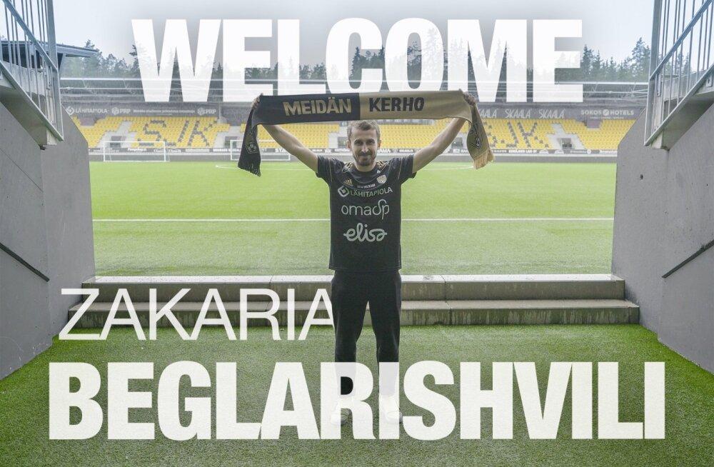 Zakaria Beglarišvili siirdub Soome kõrgliigasse eestlaste klubikaaslaseks