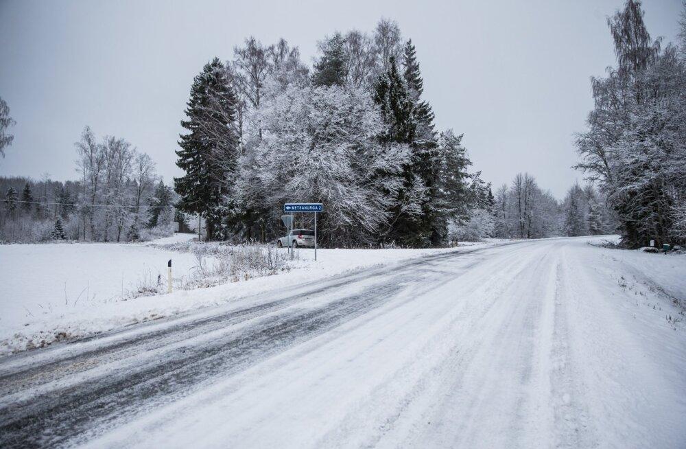PANGE TÄHELE | Kui teedel kuulutatakse välja rasked ilmaolud, tuleb seda hoiatust kindlasti järgida