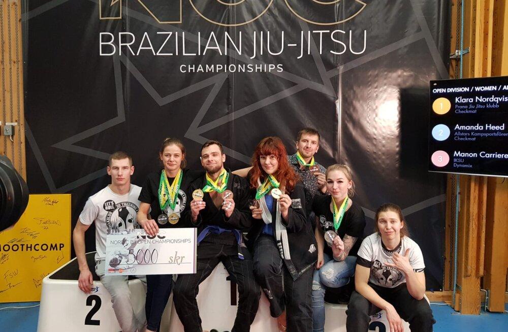 Eestlanna tuli jiu-jitsu Põhjamaade meistrivõistlustel absoluutseks meistriks