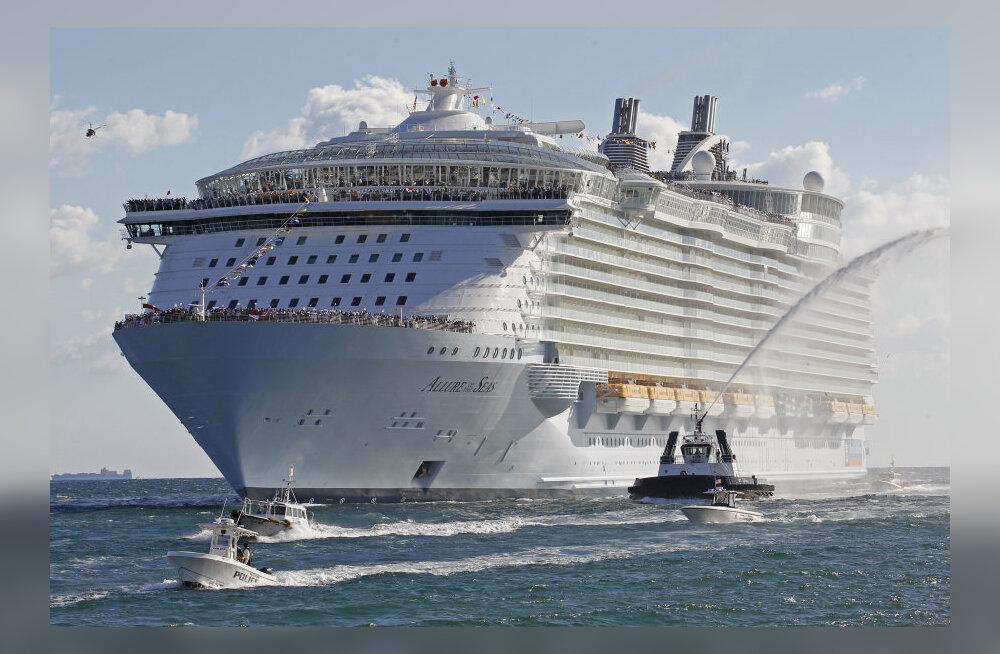 Võrdlus: Euroopasse saabuv maailma suurim kruiisilaev liigub sama kiiresti kui Titanic