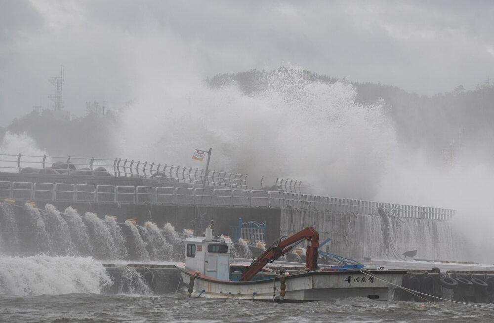 Jaapanit räsinud taifuun Haishen jõudis Lõuna-Koreasse