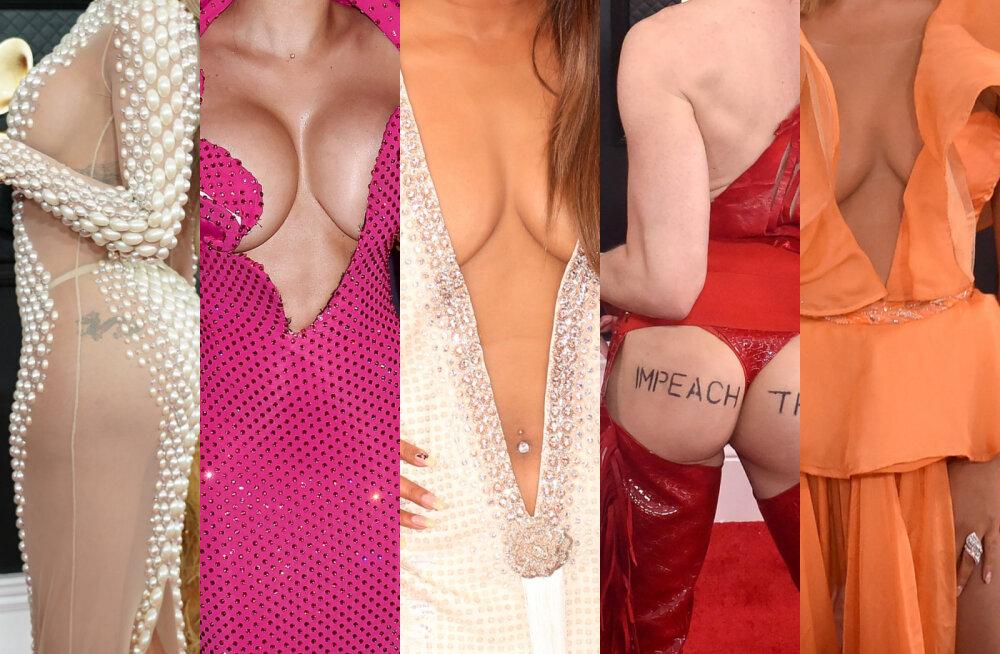 GALERII | Vaata ja sa ei pettu! Grammy'de kõige napimad kleidid püsisid vaid ausõna peal koos