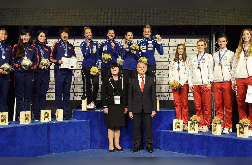Kuldne Eesti epeenaiskond poodiumi kõige kõrgemal astmel