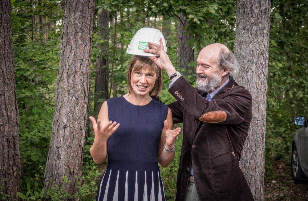 VAHVAD FOTOD | Kersti Kaljulaid külastas koos Arvo Pärdiga heliloojale pühendatud keskuse ehitust
