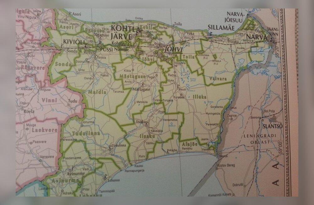Ida-Virumaa kaart