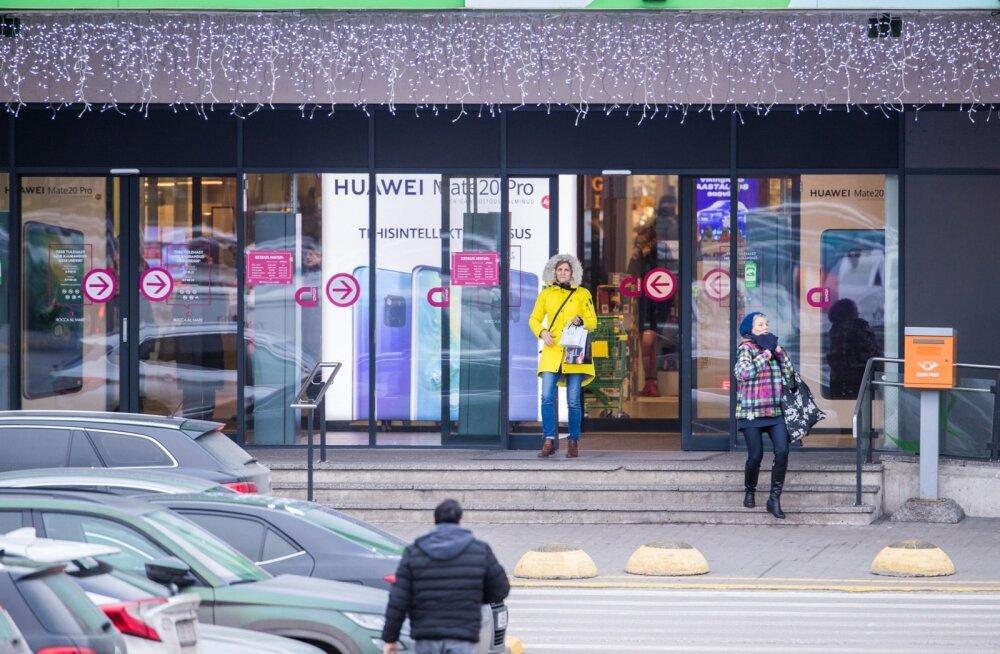 Kaubanduskeskused enne jõule