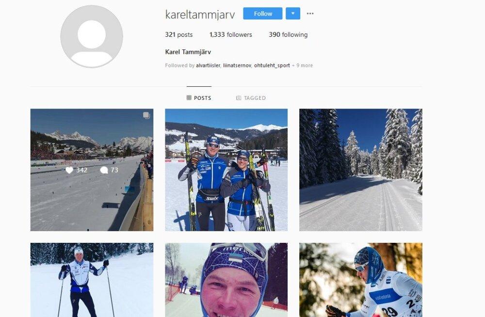 Andreas Veerpalu on sotsiaalmeedia kontod kustutanud, Tammjärve Instagramis käib suur sõimlemine