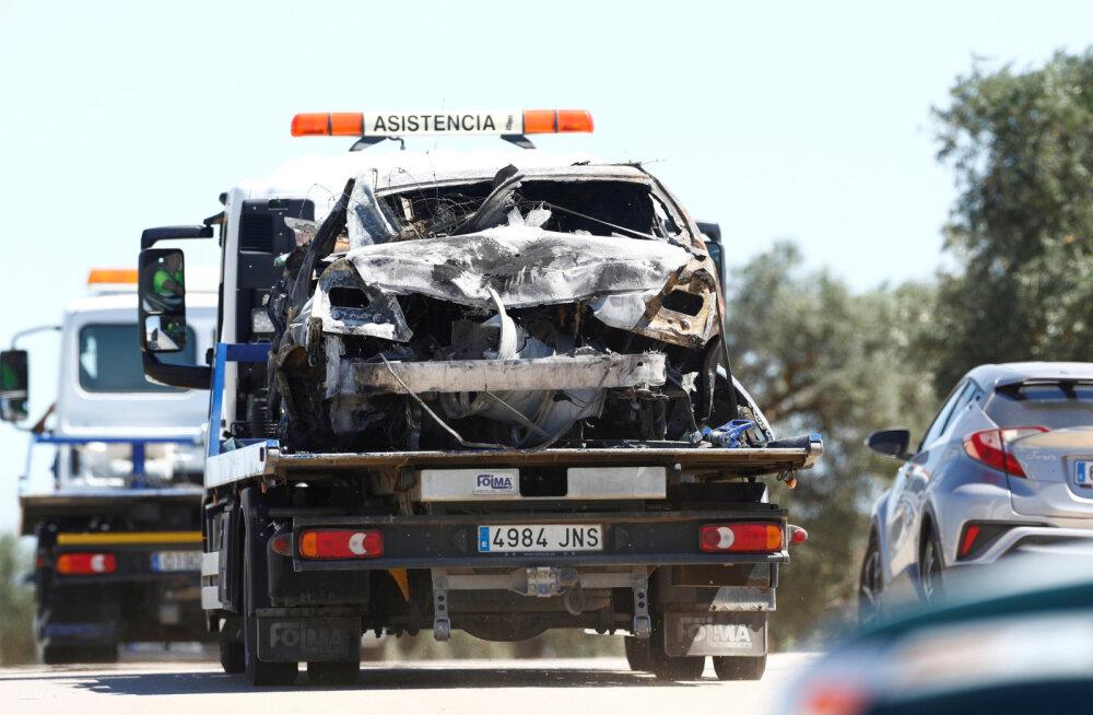 Detailid kuulsa jalgpalluri elu nõudnud autoavariist: kiirus võis olla üle 230 km/h, auto põles maani maha