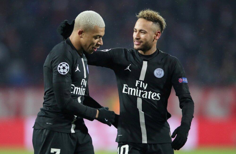 Kylian Mbappe ja Neymar.