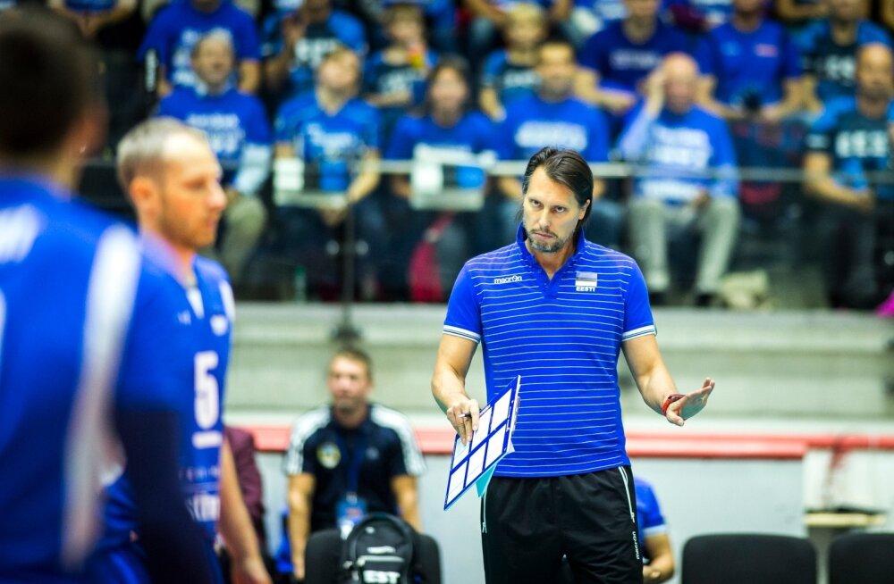 Eesti võrkpallikoondise peatreener Gheorghe Cretu.