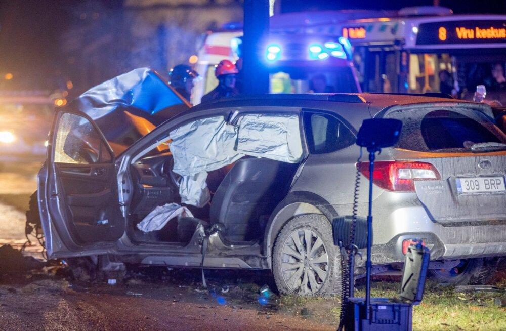 Liiklusõnnetus Pirital 12.02.2020