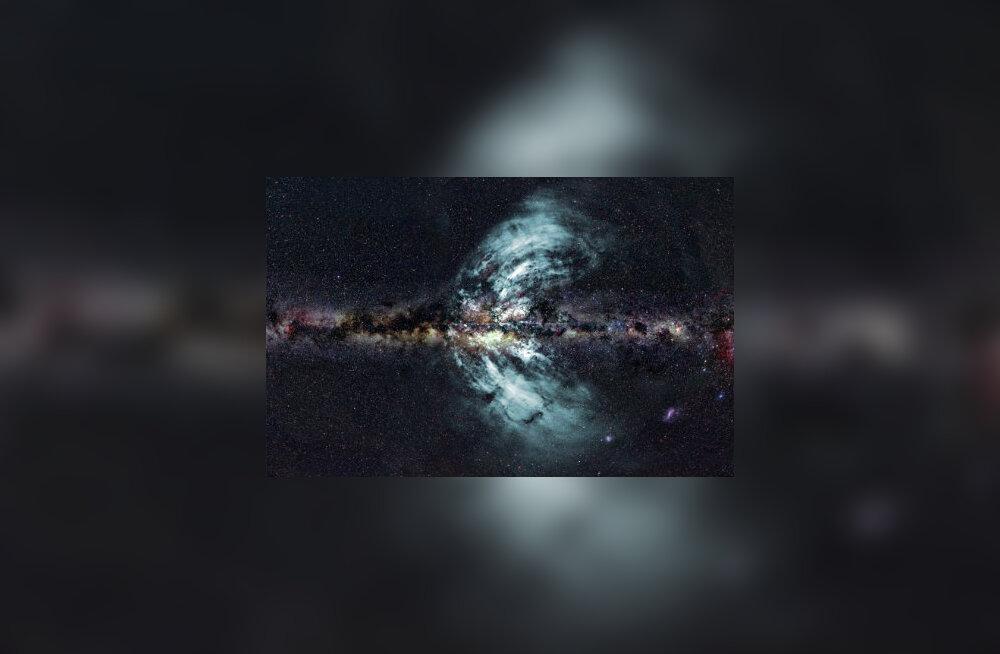 Pildil on kujutatud äsja avastatud osakeste väljavoolu galaktika keskpunktis.