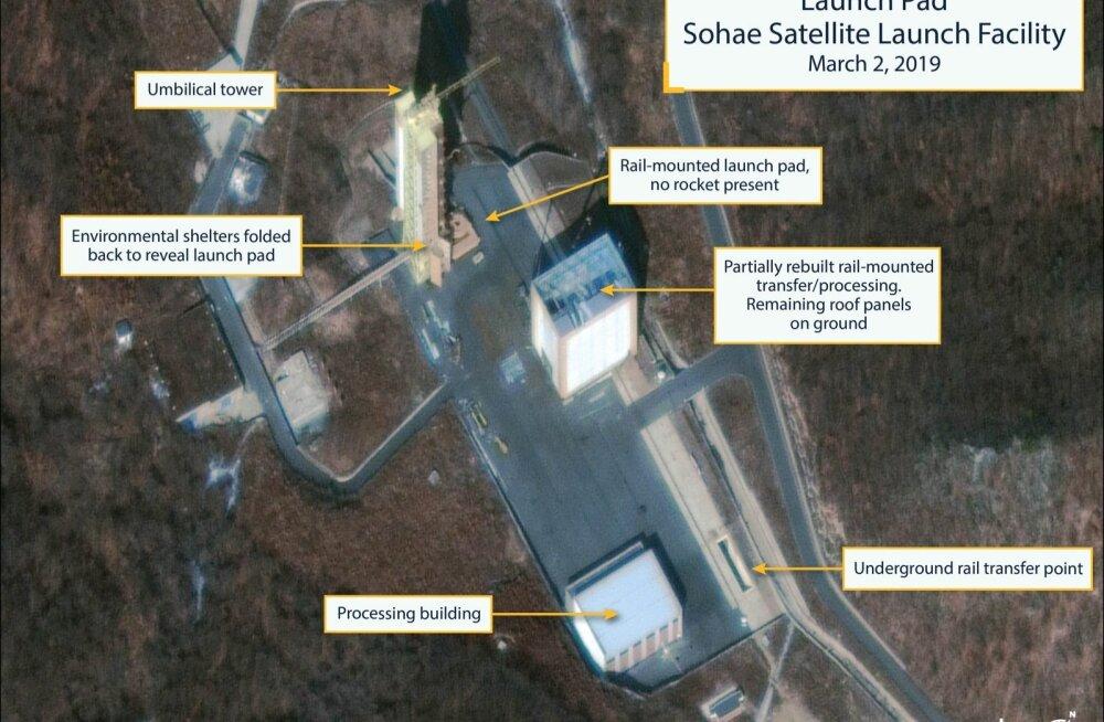 Vaatlejate sõnul taastab Põhja-Korea Sohae rakettide stardipaika
