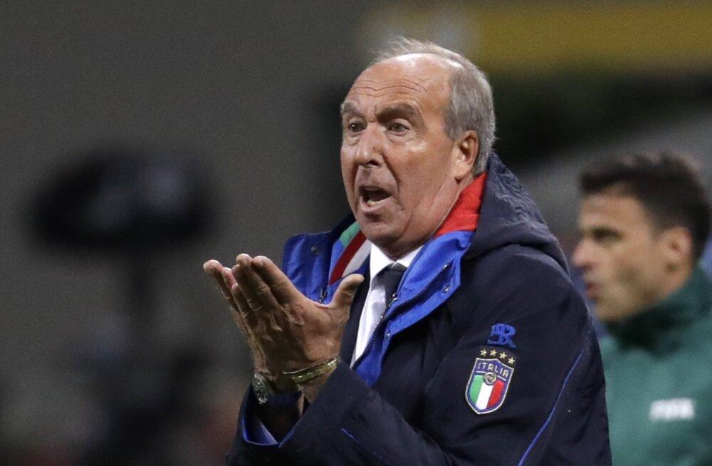 Nagu arvata oli: Itaalia vutikoondise peatreener sai sule sappa
