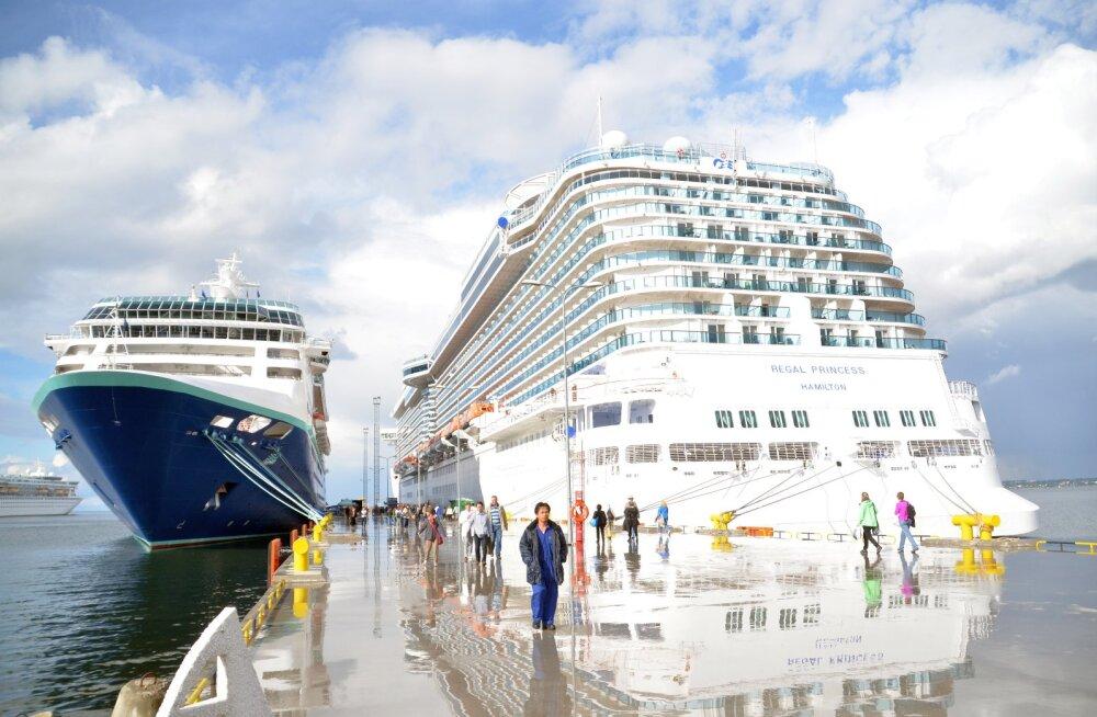 FOTOD: Tallinnas peatub viimast korda Princess Cruisesi moodsaim kruiisilaev Regal Princess