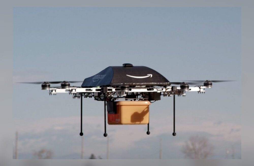 """Projekt """"Prime Air"""" võib paari aasta pärast reaalsuseks saada, kui internetikaubamajast tellitud pakk drooniga kohale tuuakse"""