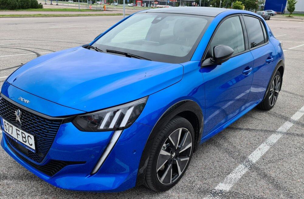 Proovime järele: uus elektriauto Peugeot e-208<o:p>