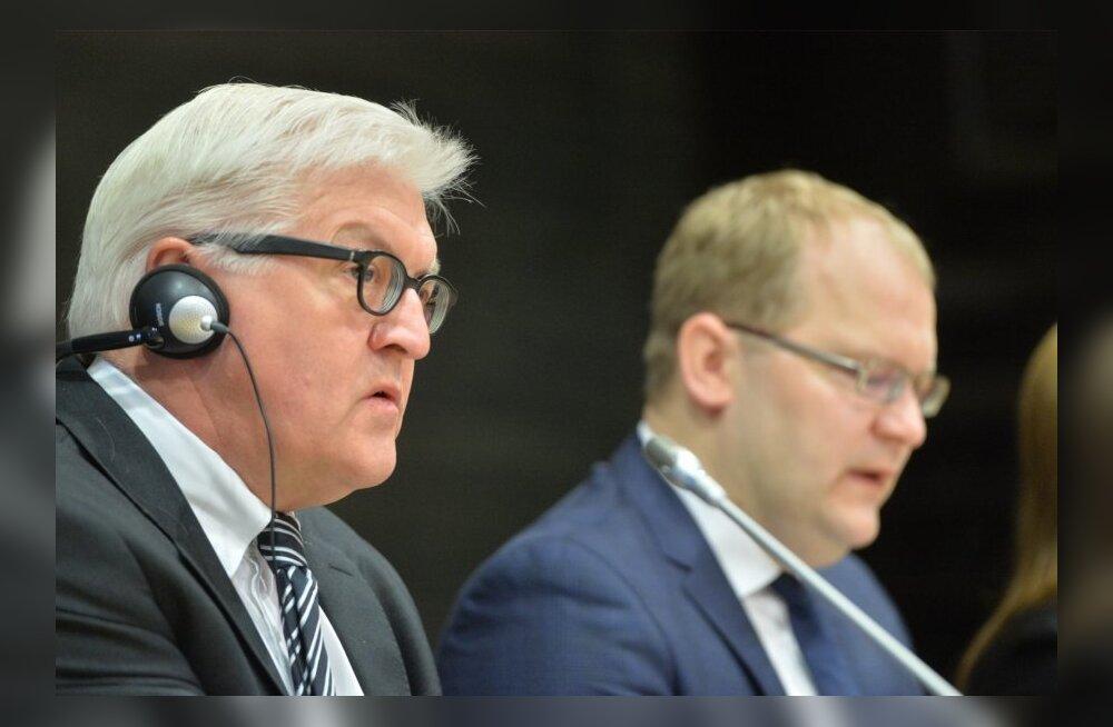 DELFI FOTOD JA VIDEO: Paet pärast kohtumist Saksa välisministriga: Venemaa kaasmaalaste poliitika puudutab pea kõiki Euroopa riike