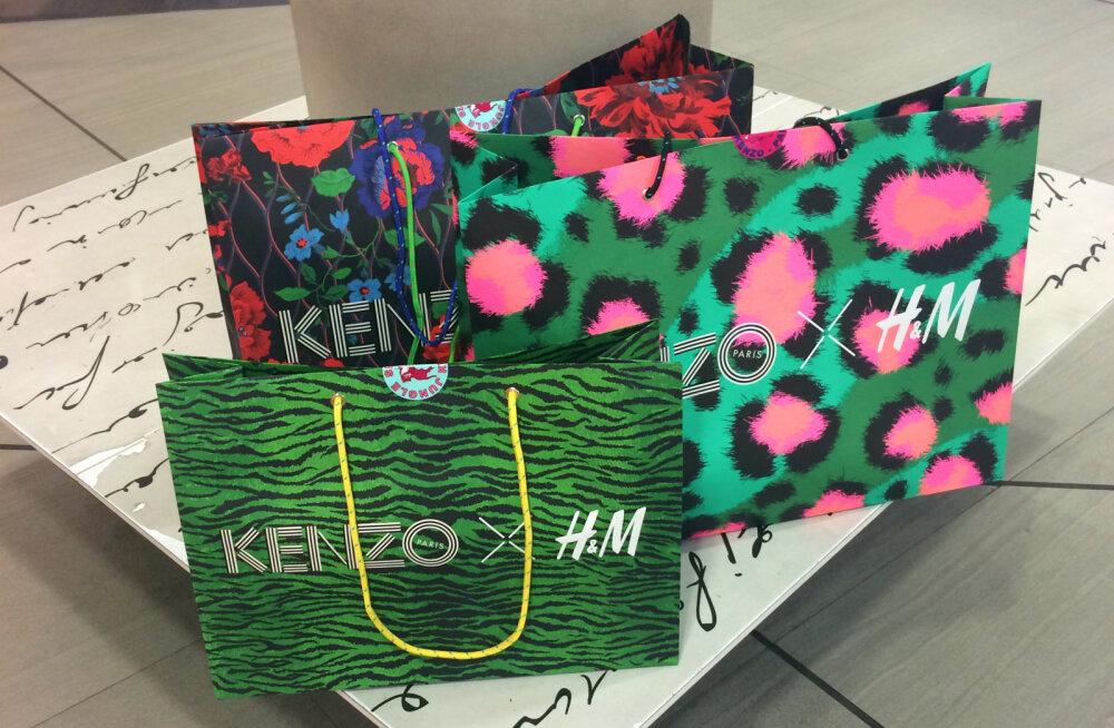 "ФОТО DELFI: ""Я так счастлива!"" Как в Эстонии запустили продажу коллекции Kenzo x H&M"