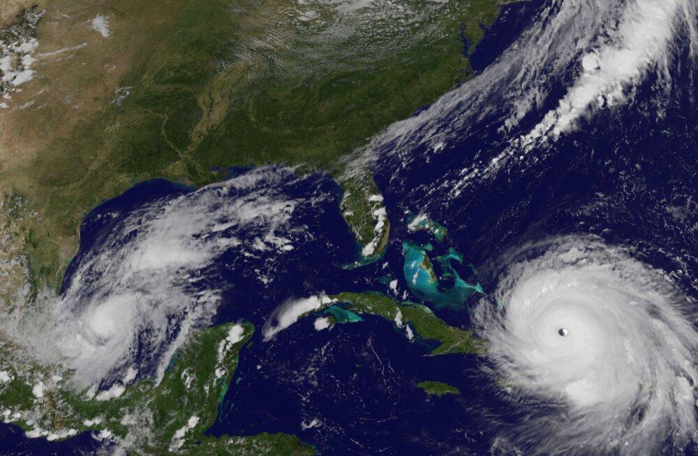 Orkaani Irma silm läheneb Bahamale.
