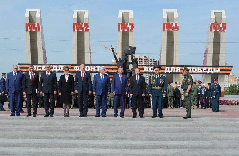 Putin püüdis kinni Tšita paraadil komistanud rindeveterani