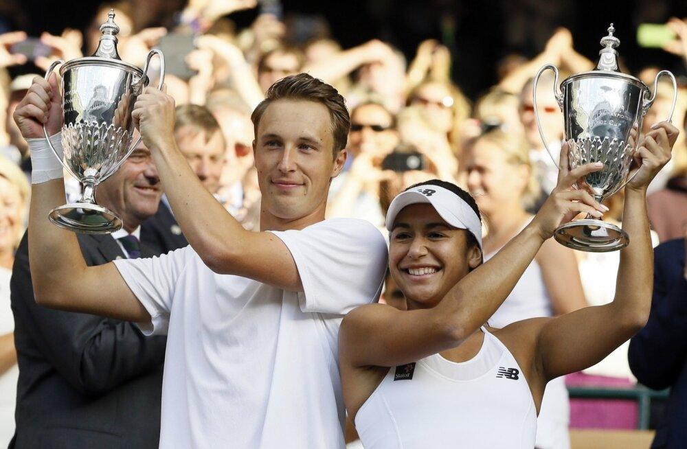 Henri Kontinen Wimbledoni võidukarikaga