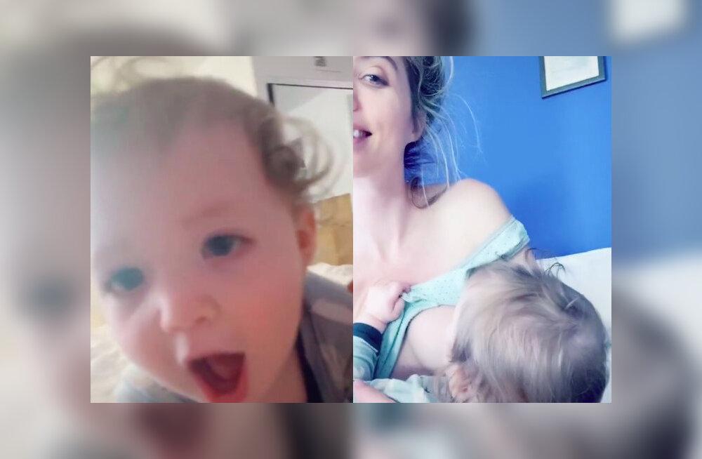 HUMOORIKAD VIDEOD | Emmed näitavad TikTokis beebidele oma rindu ja nende reaktsioonid on ülinaljakad