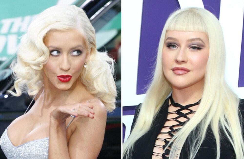 ENNE JA NÜÜD | Tõeline põhjus, miks Christina Aguilera on 25 aastaga muutunud kaunist neiust ilukirurgia katastroofiks