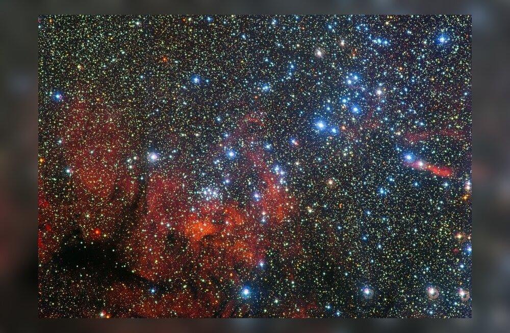 Pilk 7500 valgusaasta kaugusele: NGC 3590 ehk Kiilu tähtkuju heledad liikmed