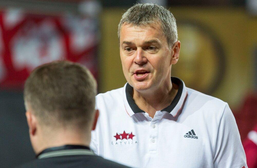 Läti korvpallikoondise peatreener Ainars Bagatskis