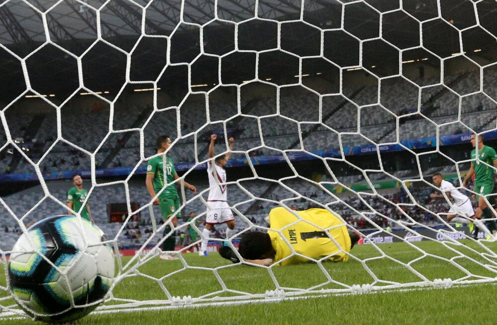 Pilt on illustratiivne. Boliivia ja Venetsueela mäng Copa Americal
