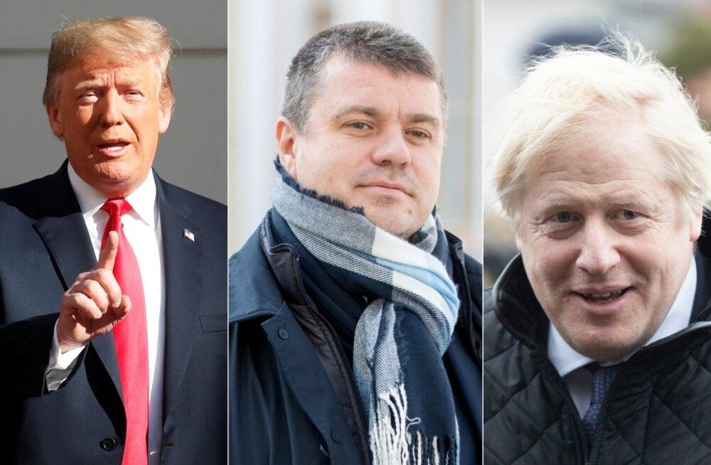 Donald Trump, Urmas Reinsalu ja Boris Johnson