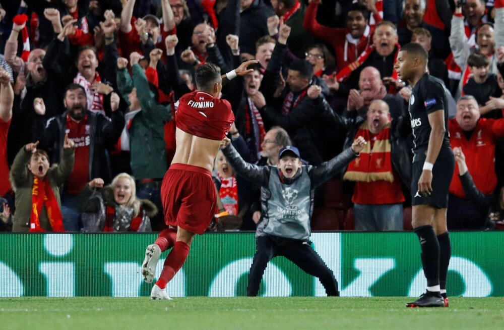 Firmino lõi hetk tagasi Liverpooli võiduvärava