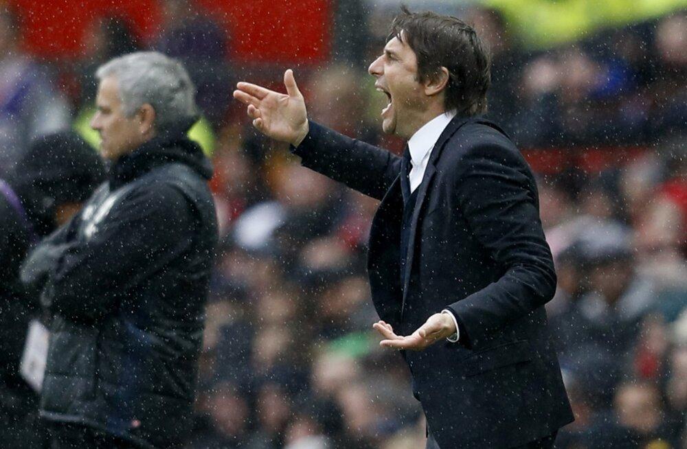 Jose Mourinho ja Antonio Conte