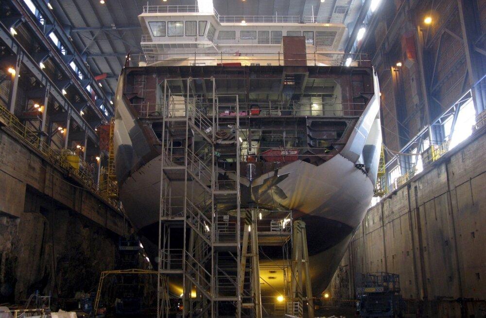 Jäälõhkujad valmivad Helsingis asuvas laevatehas Archtech