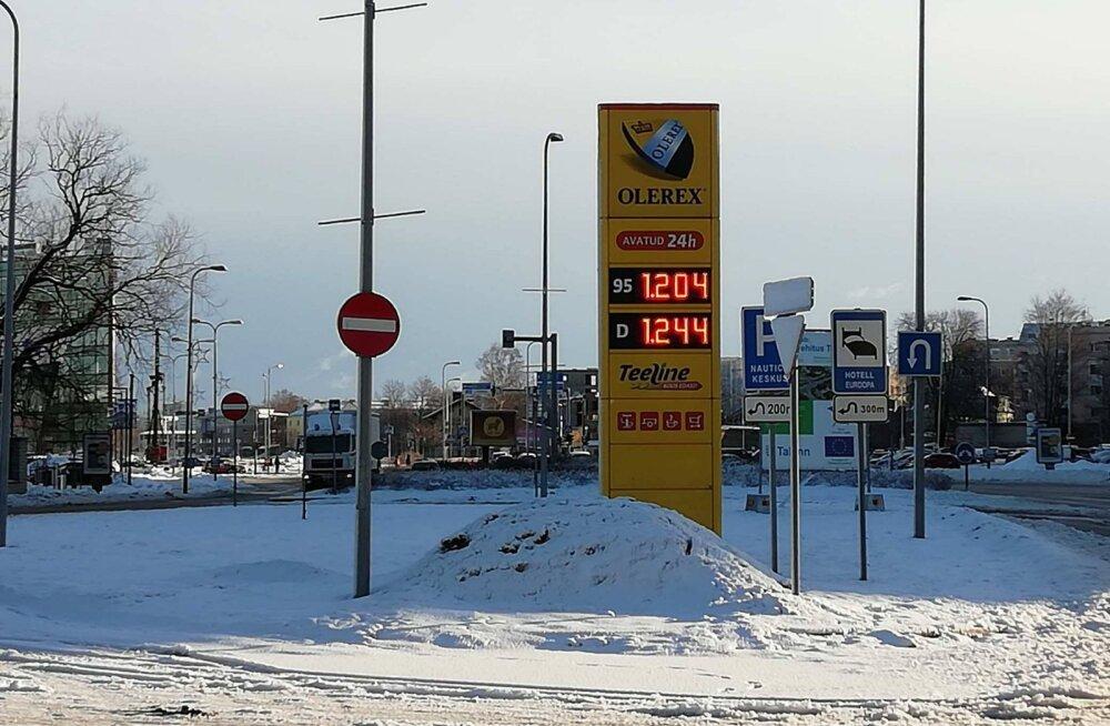 Kütuse hind 12.02 hommikul