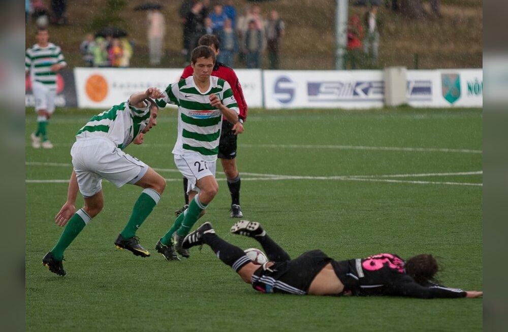 Homme toimub tiitlisõja avalahing Nõmme Kalju vs FC Flora