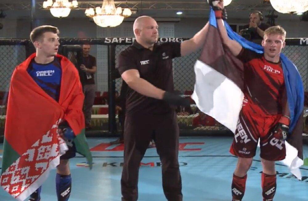 Eesti MMA-võitleja alistas Euroopa meistrivõistluste avaringis favoriidi