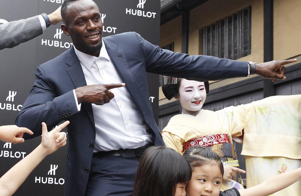 Usain Bolt Kyotos reklaamiüritusel