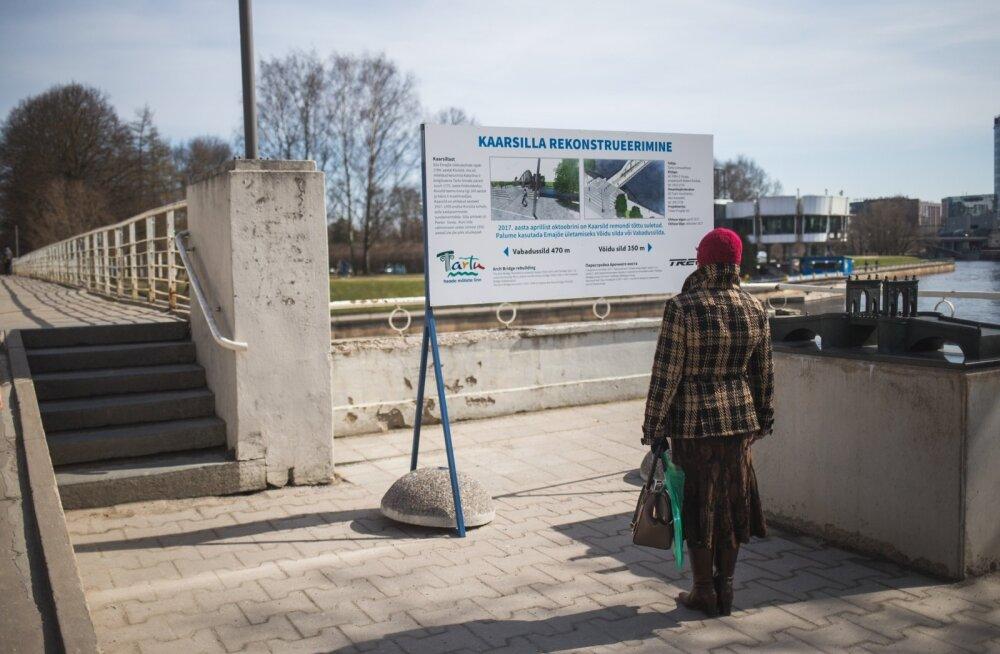 Tartu Kaarsild suletakse rekonstrueerimiseks