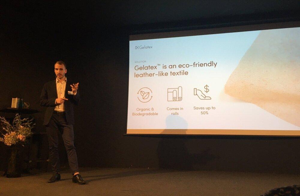 Gelatexi kaasasutaja Märt-Erik Martens ideed tutvustamas.