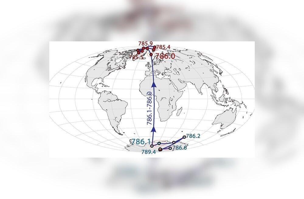 Miljon aastat tagasi oli me planeet tagurpidi - põhi asus lõunas