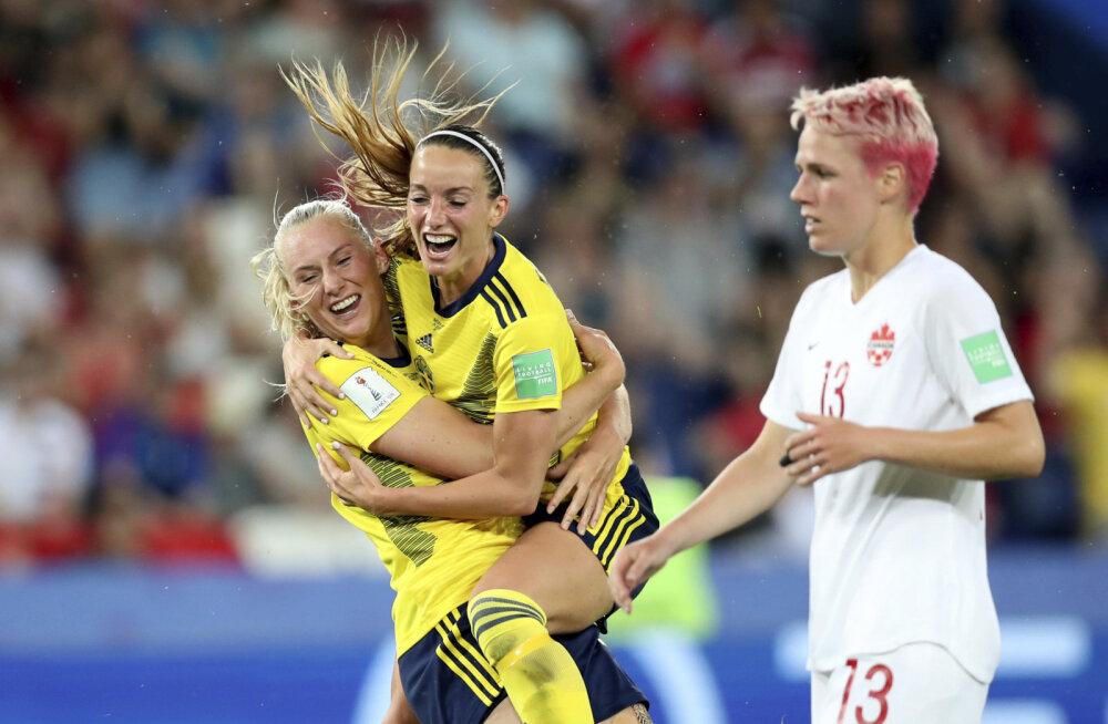 USA ja Rootsi pääsesid naiste MM-il veerandfinaali