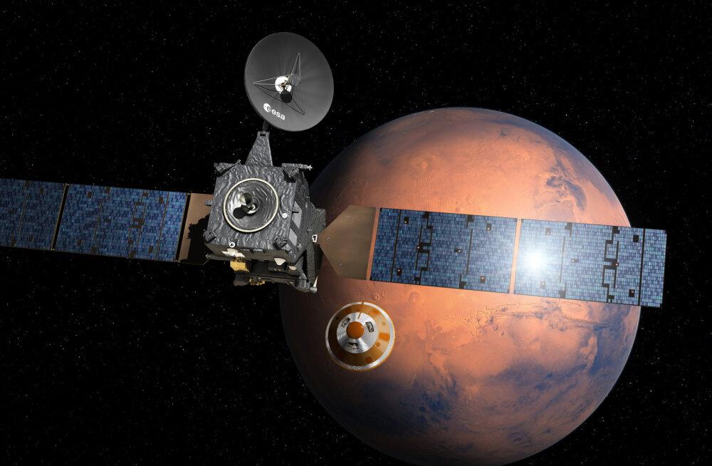Euroopa kosmoseagentuuri Marsi moodul alustas laskumist punasele planeedile, ülehomme on see kohal