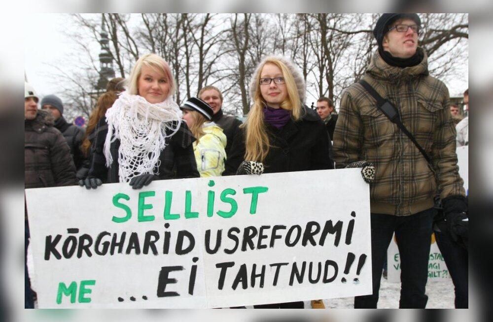 Kõrgharidusreformi vastu - Monika Maljukov: Riigikogul on reformiga pool tööd tegemata