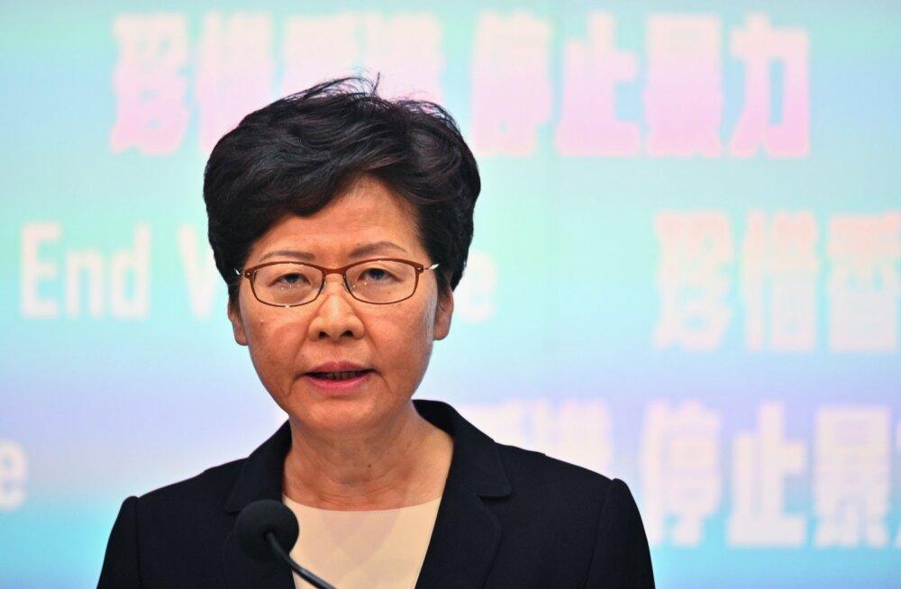 Hongkongis keelati näomaskide kandmine