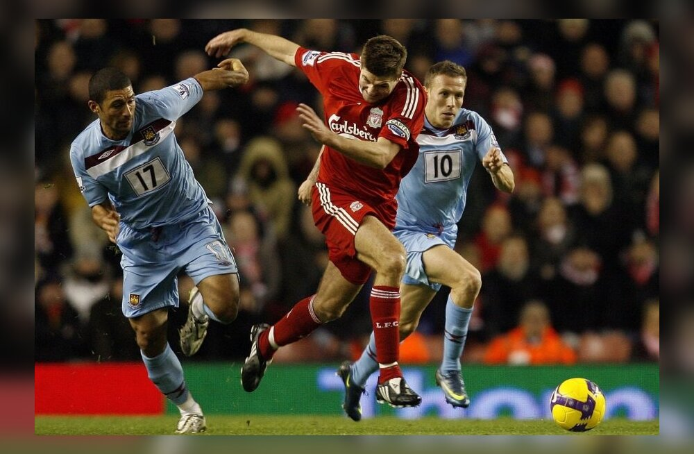 Liverpooli Steven Gerrard ning West Hami  Hayden Mullins ja Craig Bellamy