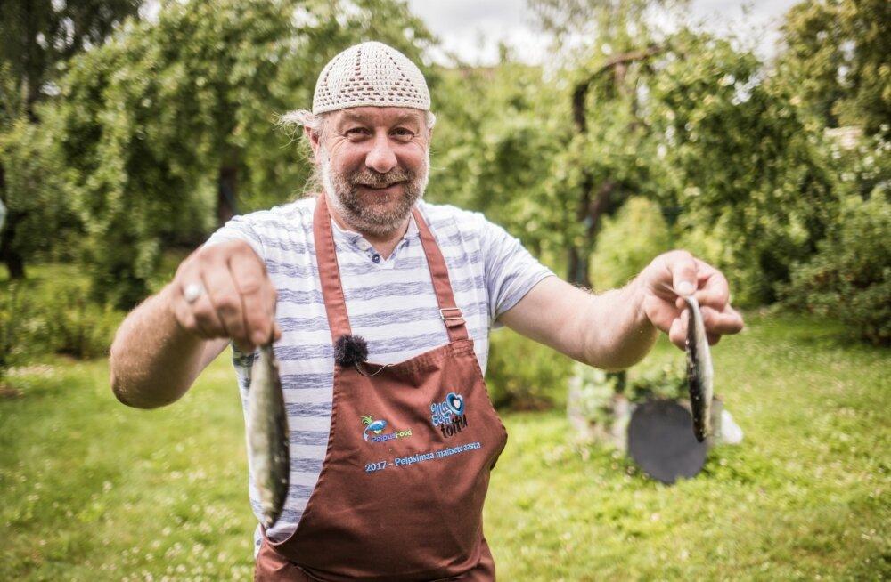 Rääbisefestivalil õpetab Tauno Laasik seda kala valmistama ja sööma.
