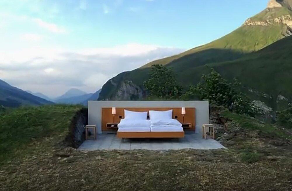 VIDEO: On see alles hotell! Pole katust, seinu ega tualetti